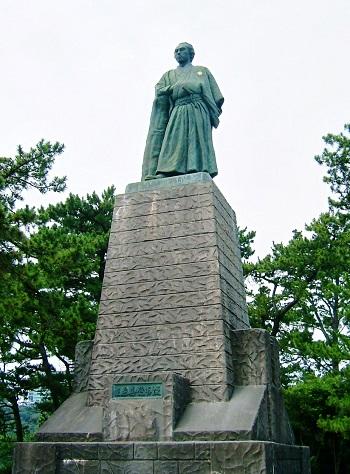 高知市 桂浜 坂本龍馬像